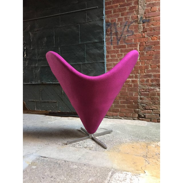 Mid-Century Modern Verner Panton Style Heart Chair For Sale - Image 3 of 8