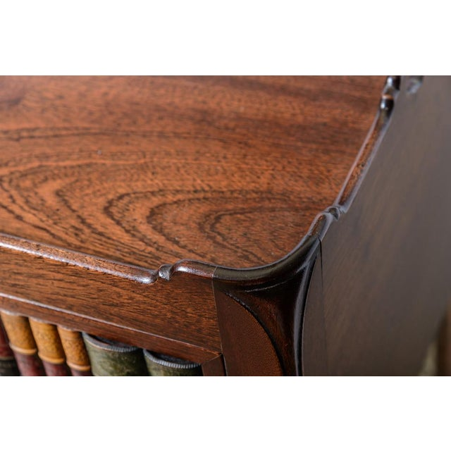 English Style Faux Book Front Mahogany Nightstands - a Pair For Sale In West Palm - Image 6 of 8