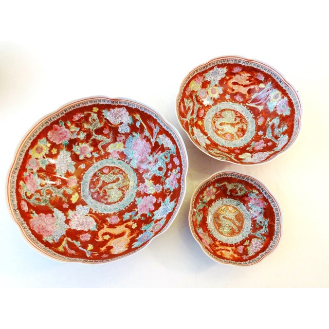 Eggshell Porcelain Bowls - Set of 3 For Sale In New York - Image 6 of 7