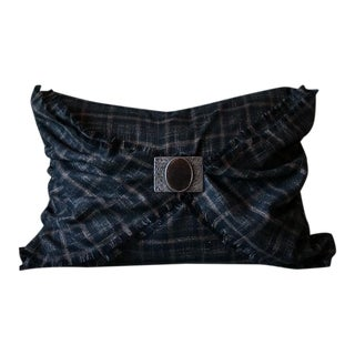 Rustic Plaid Pillow Cover For Sale