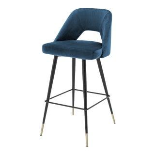 Blue Velvet Bar Stool | Eichholtz Avorio For Sale