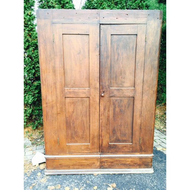 Primitive Two Halves Farm Armoire - Image 2 of 9