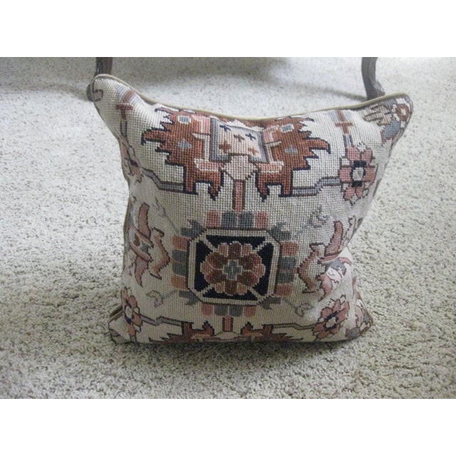 Cotton Ralph Lauren Needlepoint Pillows - a Pair For Sale - Image 7 of 7