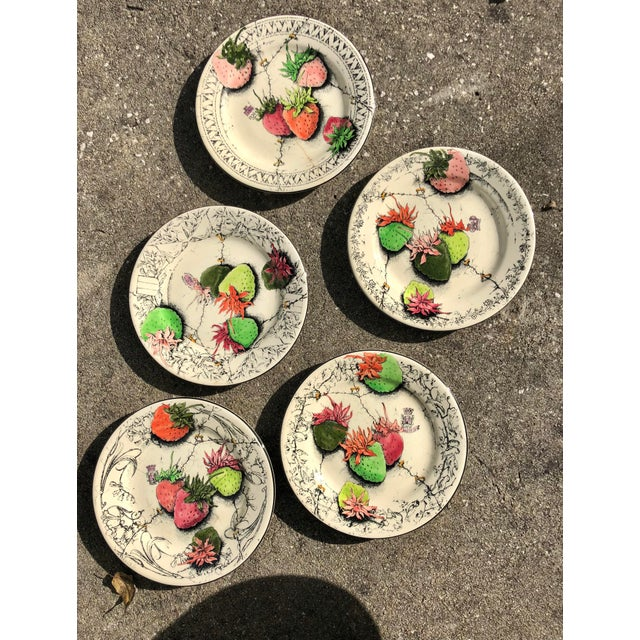 Vintage French Gien Strawberry Plates For Sale - Image 6 of 6