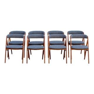 Danish Modern Teak Dining Chairs – Set of 8 For Sale