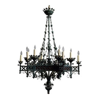 Antique chandelier, Gothic Revival period For Sale