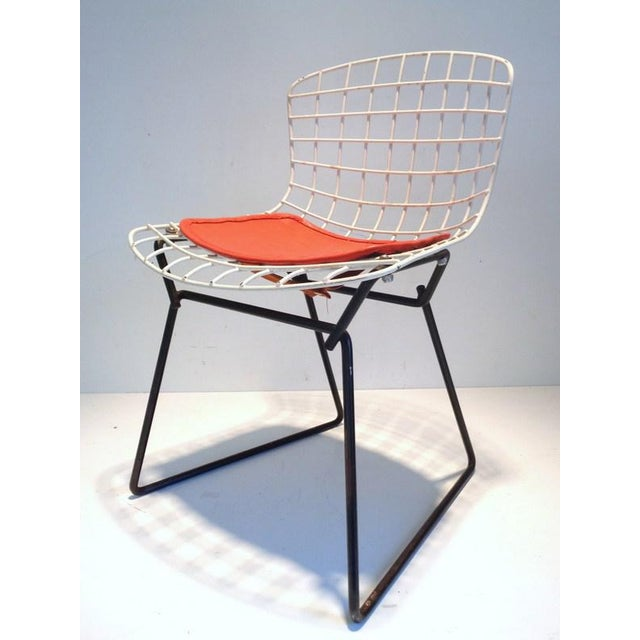 Black & White Harry Bertoia for Knoll Small Children's Chair For Sale - Image 12 of 12