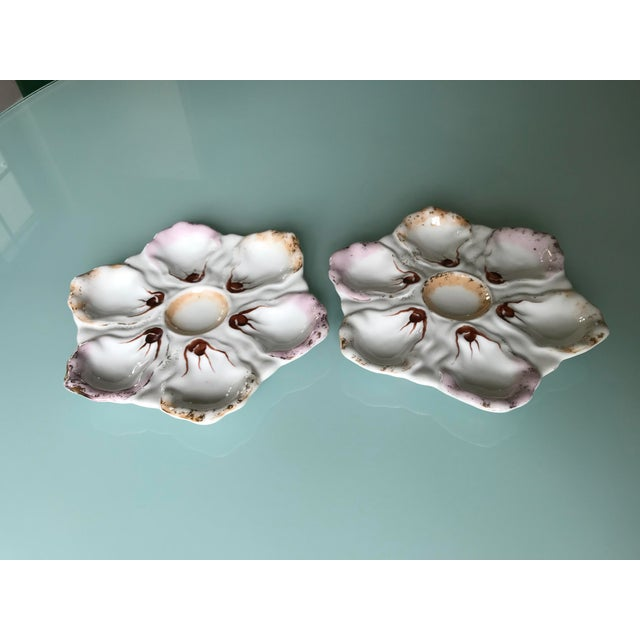 Early 20th Century Austrian Oyster Plates - A Pair For Sale - Image 5 of 5