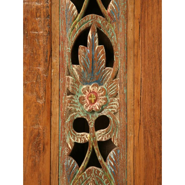Vintage Indonesian Teakwood Cupboard For Sale - Image 9 of 10