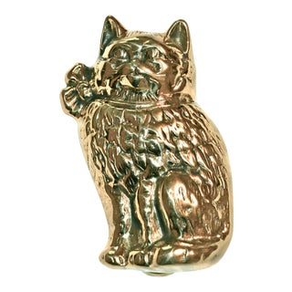 Cute Cat Wearing a Bow Door Knocker