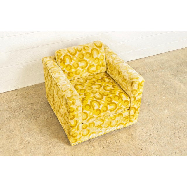 Yellow Mid Century 1970s Yellow Loveseat and Lounge Chair For Sale - Image 8 of 12