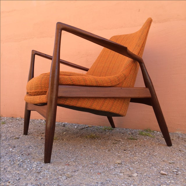 Mid-Century Modern Rare Ib Kofod-Larsen 'Seal' Easy Chair For Sale - Image 3 of 10