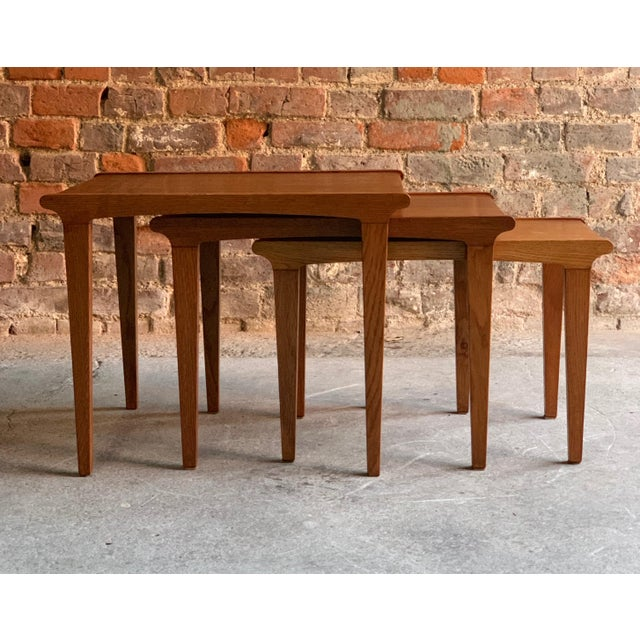 Midcentury Gordon Russell Nest of Tables Set of Three Oak, 1950s - Set of 3 For Sale - Image 11 of 13