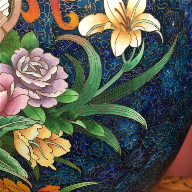Chinese Cloisonne Style Vases - A Pair - Image 8 of 11