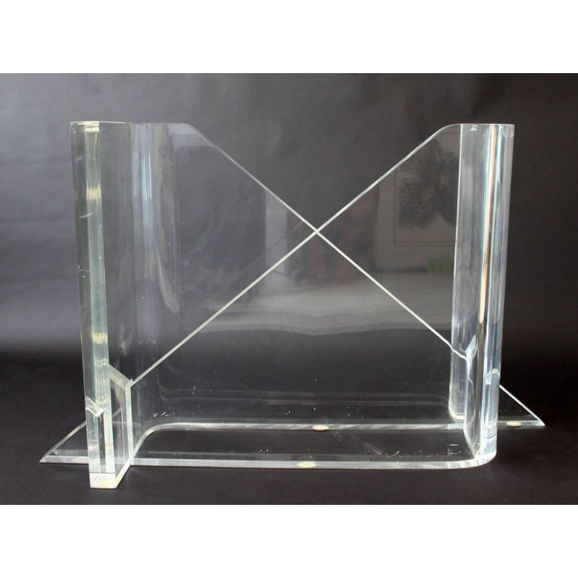 Gary Gutterman 1970s Vintage Gary Gutterman Mid-Century Modern Lucite Glass Dining Table For Sale - Image 4 of 10