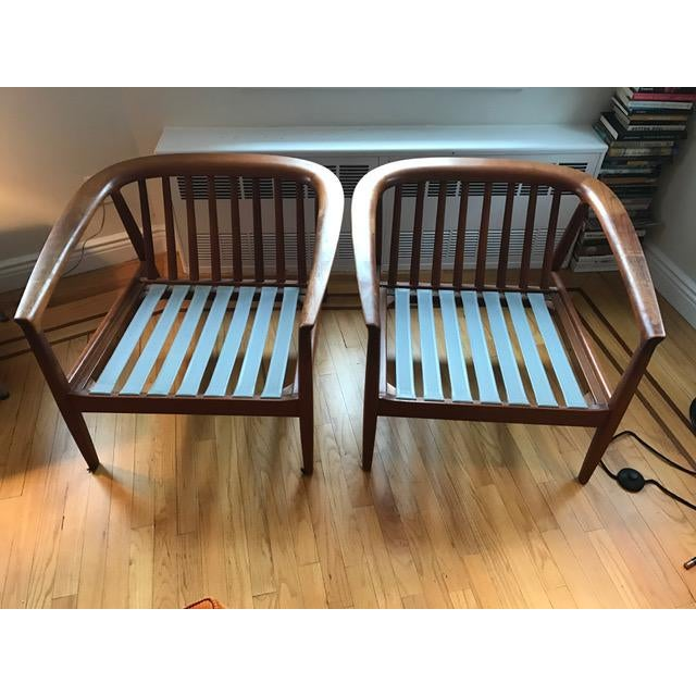 Danish Modern Dux Danish Modern Teak Barrel Back Chairs - a Pair For Sale - Image 3 of 11
