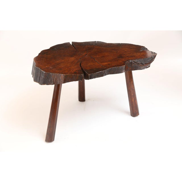 Vintage Tree Trunk Table For Sale - Image 10 of 13