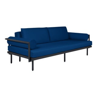 Avenua Sofa with Bolsters in Pacific Blue For Sale