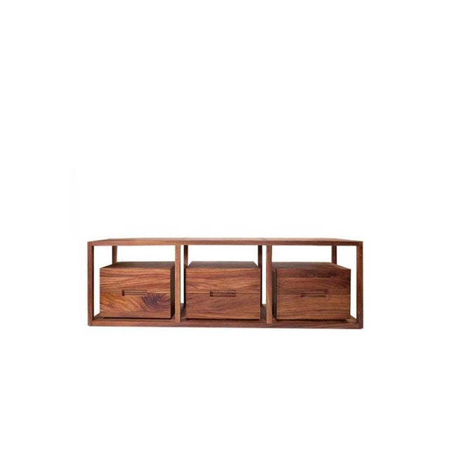 Brown Bodega Console, Cenicero and Conacaste Solid Wood For Sale - Image 8 of 8