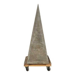 French Concrete Garden Obelisk For Sale