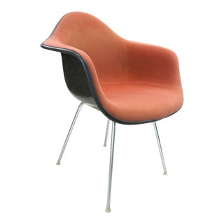 "1960s Upholstered ""H"" Base Eames Armchair For Sale"