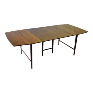 Mid Century Modern Paul McCobb Drop Leaf Dining Table Extendable For Sale