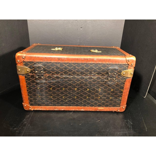 Goyard Jewelry or Valuables Trunk Train Case For Sale - Image 9 of 13