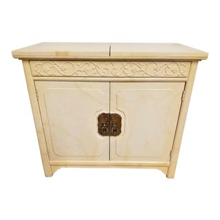 Henredon Plan 2 by Roy Coleman Asian Style Faux Goat Skin Lacquered Bar Buffet For Sale