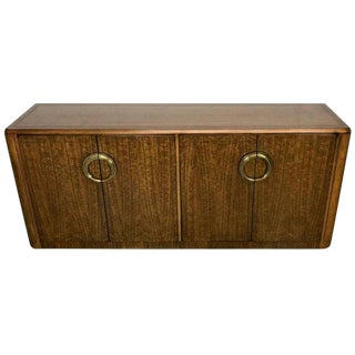 Midcentury Mahogany and Brass Credenza by Micheal Taylor for Baker For Sale