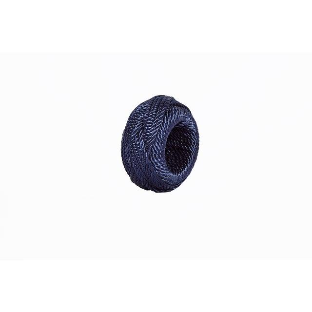 Coastal Navy Rope Napkin Ring For Sale - Image 3 of 3