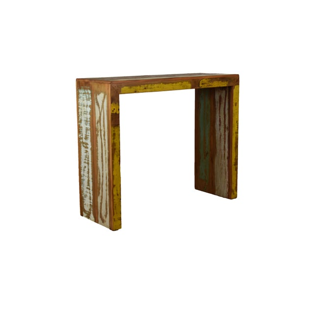 Boho Chic Reclaimed Wood Bar Table For Sale - Image 3 of 5