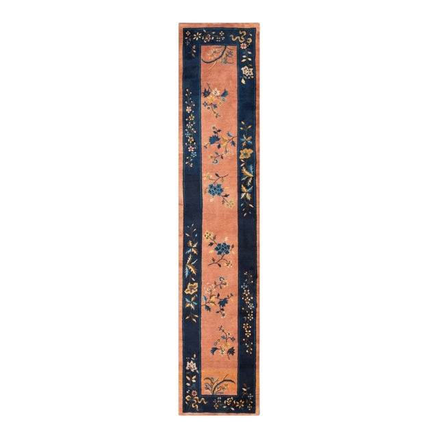 """Antique Chinese Art Deco Rug 2'6"""" X11'9"""" For Sale"""