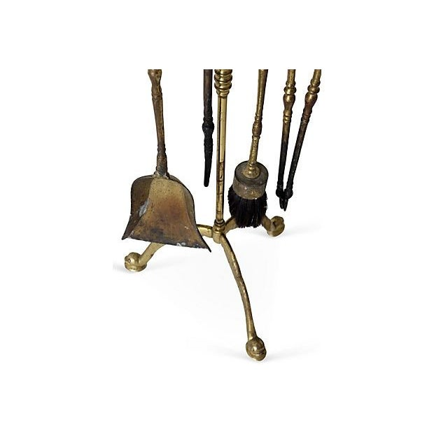 Brass Fireplace Tool Set - Image 3 of 4