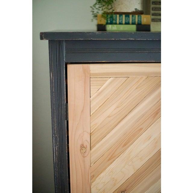 Antique Letterpress Cedar Cabinet - Image 6 of 11