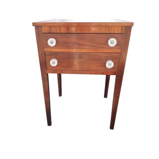 Antique Federal Mahogany Nightstand For Sale