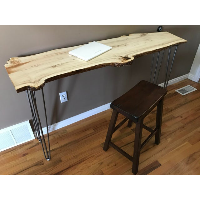 Lights Live Edge Console Table For Sale - Image 7 of 12