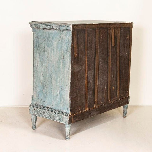 Large Antique Blue Painted Chest of Drawers From Sweden For Sale - Image 4 of 13