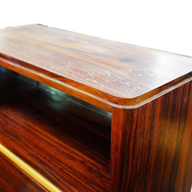 High Style Art Deco Macassar Ebony Vitrine Cabinet & Secretary Desk - Image 6 of 7