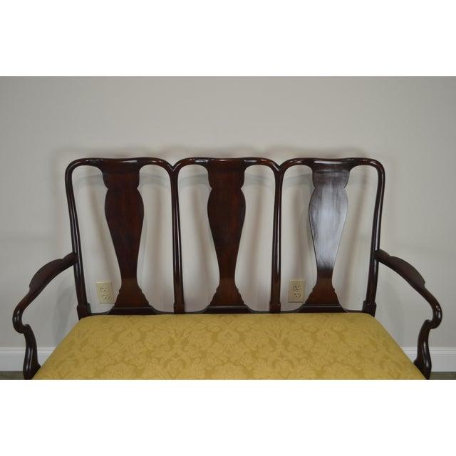 Queen Anne Custom Mahogany Triple Back Settee For Sale In Philadelphia - Image 6 of 13