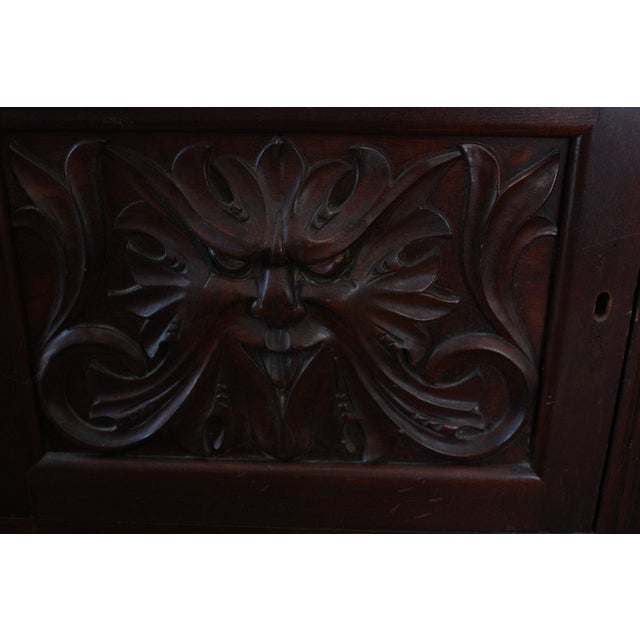 Antique Carved Mahogany Spindle Etagere - Image 4 of 4