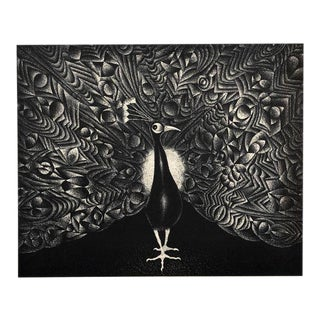 Le Grand Paon, Mezzotint by Mario Avati For Sale