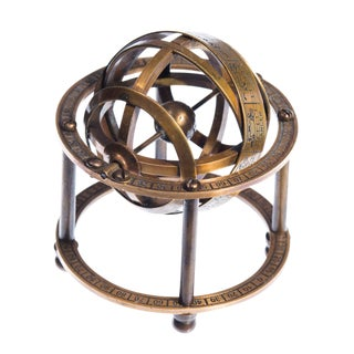 Late 20th Century Art Nouveau Armillary Sphere Brass Astronomy Globe