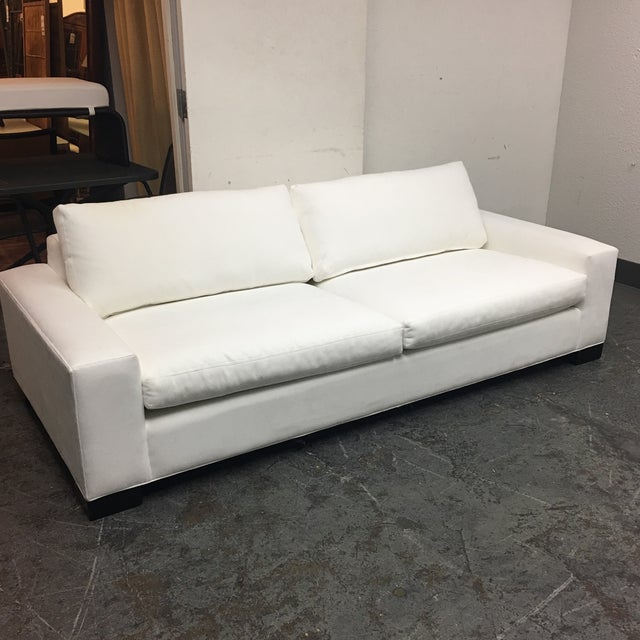 Room & Board White Ultasuede Townsend Sofa - Image 3 of 8