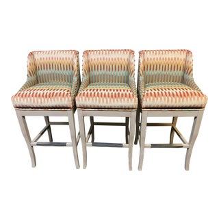Ballard Designs Marcello Swivel Barstools, Set of Three For Sale