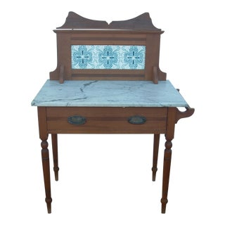 Victorian Marble Top Wash Stand For Sale