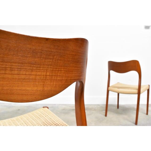 j.l. Møller Model 71/55 Teak & Danish Cord Dining Chairs - Set of 8 For Sale - Image 9 of 13