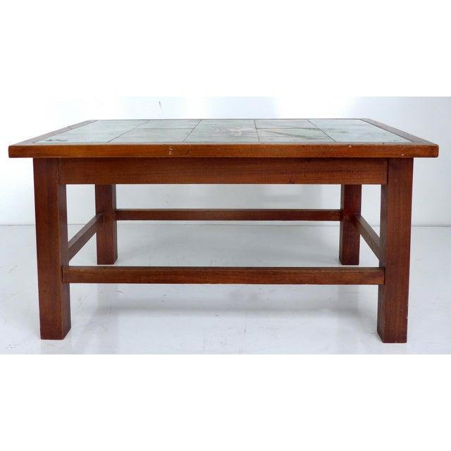 1940 Vintage Johannes Meyer Tile Top Table For Sale - Image 11 of 11