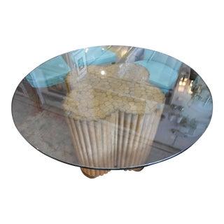 Kreiss Bamboo Pedestal Dining Table
