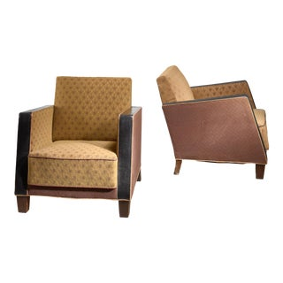 Pair of Swedish Club Chairs, 1930s For Sale