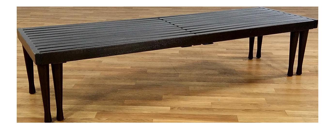 Brown Saltman Mid Century Slat Bench Chairish